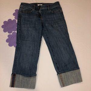 Fashion forward Ann Taylor Loft sz 6 cuffed jeans